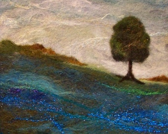 No.700 Lone Tree Again - Needlefelt Art XLarge