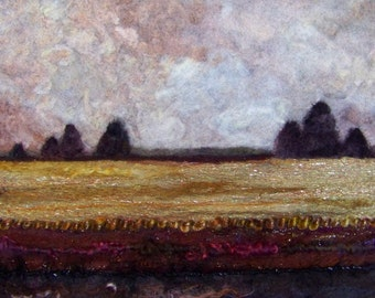 No.705 Gold Field - Needlefelt Art XLarge