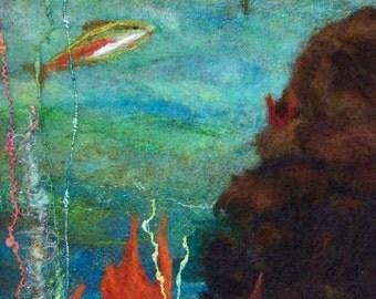 No.702 Clear Blue - Needlefelt Art XLarge