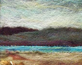 No.245 Warm Water - Needlefelt Art Large