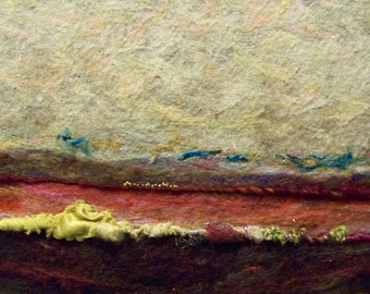 No.270 Red Field - Needlefelt Art XLarge