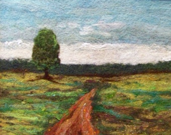 No.418 Lone Tree Too - Needlefelt Art XLarge