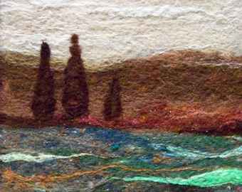 No.435 Warm Field Too - Needlefelt Art Large