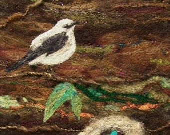 No.438 Bird Nest Too - Needlefelt Art XLarge