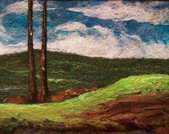 No.456 Green Valley - Needlefelt Art XLarge