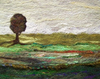 No.460 Lone Tree Too - Needlefelt Art XL
