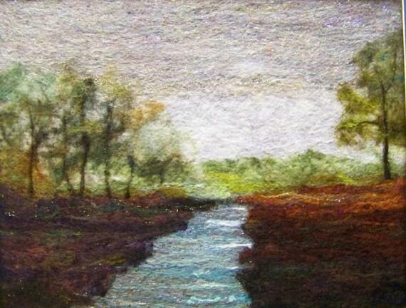 No.536 Stream Too - Needlefelt Art XLarge