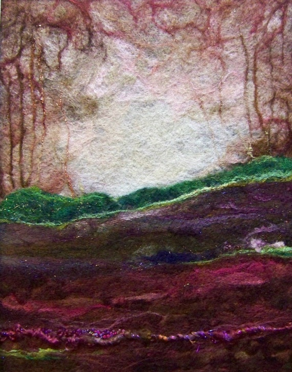 No.638 Rosewood Too - Needlefelt Art XLarge