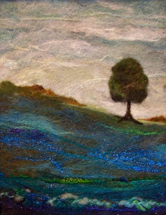 No.700 Lone Tree nouveau - feutre aiguilleté Art XLarge