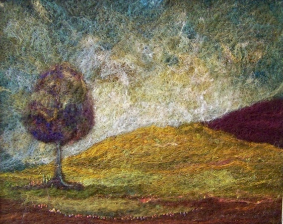 No.393 Lone Tree Hill - Needlefelt Art Large