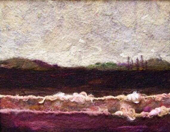 No.472 Rose Field - Needlefelt Art XL