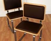 Ply Bak side dining office reception chair eames era mid century modern