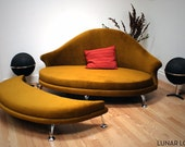 Havana Love Seat and Ottoman - Velvet