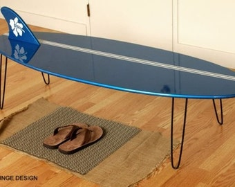 Surf Board Coffee table  Eames Era Mid Century 50s style longboard