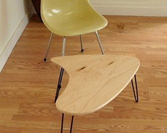 Booma end  Coffee table set  - Hair pin legs -  Eames Era  - Mid Century Modern Design