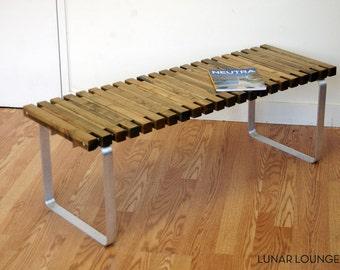 SPB-4 spruce slat bench  Eames Era - Mid Century Modern Design