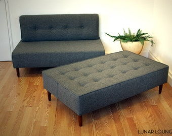BOKZ  Button Top Sofa Set set - love seat and sofa bench   Mid Century Modern Design