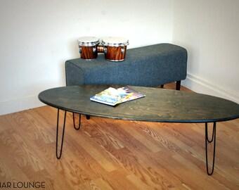 Eliptikal Coffee Table Maple Ply  Mid Century Modern Furniture