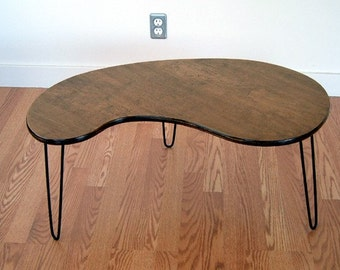 Kidney Bean  Coffee Table  Mid Century Modern Design Eames Era