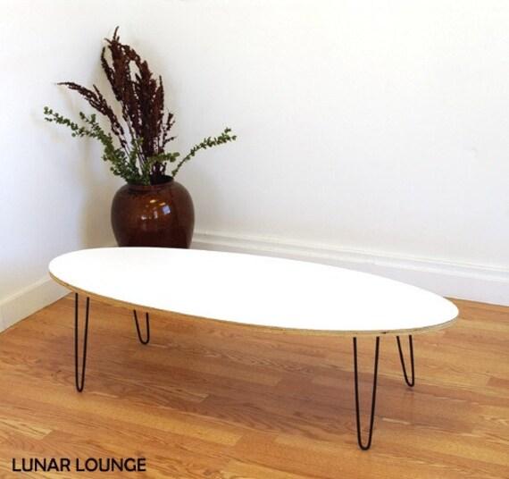 Eliptikal Coffee Table Formica Laminated Top Eames Era Mid