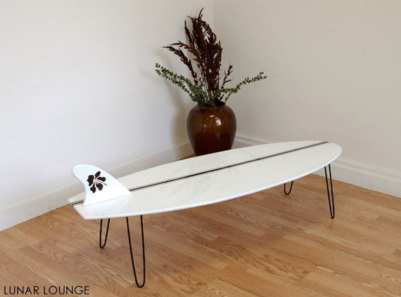 Surf Board Coffee Table Eames Era Mid By Lunarloungedesign