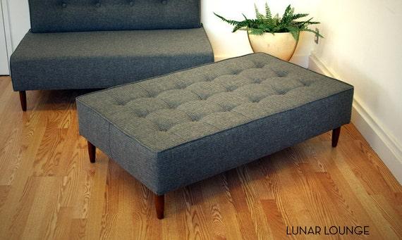 Bokz Button Top Sofa Bench - twill  Mid Century Modern