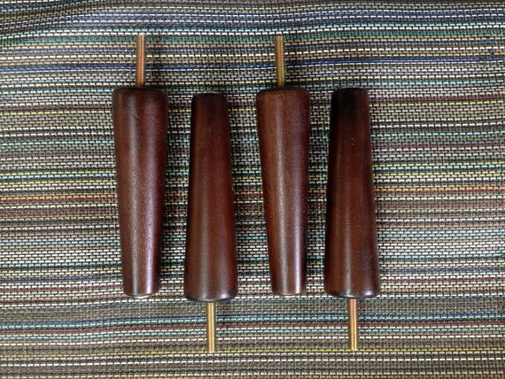 "6"" wood stiletto legs -  sofa love seat chair  Eames Era Mid Century Modern Ikea replacement legs"