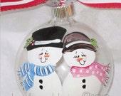 Snowman Couple Ornament - personalized free