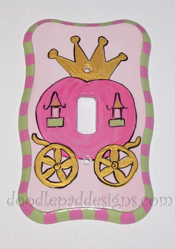 Princess Carriage Switch plate - other sizes and switch types available