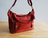 The Letter Bag - in rosewood - with an adjustable strap