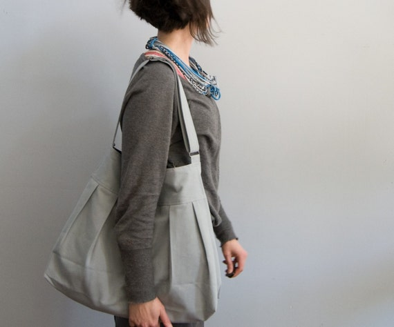 The Market Bag in ORGANIC Light Blue (lined in organic cornflower blue)