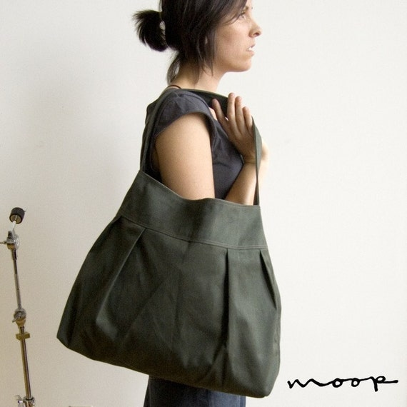 The market bag in sage and gray