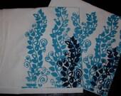 Blue Vines tea or kitchen towel