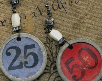 The Price is Right--Vintage Assemblage Earrings