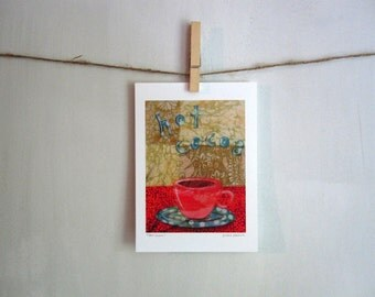 Hot Cocoa,  Archival Reproduction Print 5 x 7