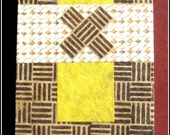 Brown and Yellow Almost Blank Hand Made Journal