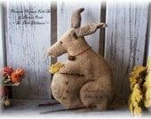 Sir Dilli Dillistion Instant PDF Download Pattern, Primitive Rabbit, Folk Art
