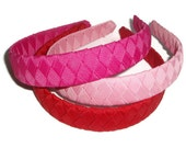 Woven Braided Headband with Grosgrain Ribbon