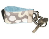 Tiny Key Ring Chain Fob made with Amy Butler Dahlia Fabric