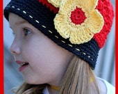 Flowers for --Miss Mouse-- Hat with clips, Custom made any size