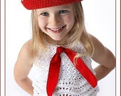 Sailor Dixie Cup Hat for Boys or Girls Crochet Pattern