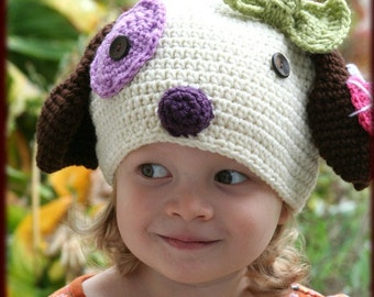 Amigurumi Animal kawaii Puppy Silly hat....Crochet pattern ebook