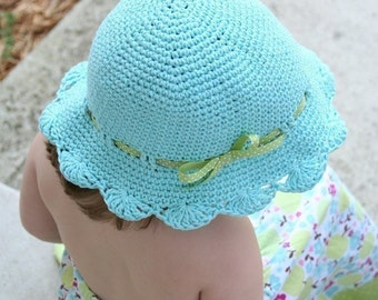 Fun in the Sun Shells Sunhat Crochet Pattern
