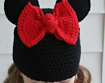 Amigurumi Animal Miss Mouse crochet Silly hat pattern ebook
