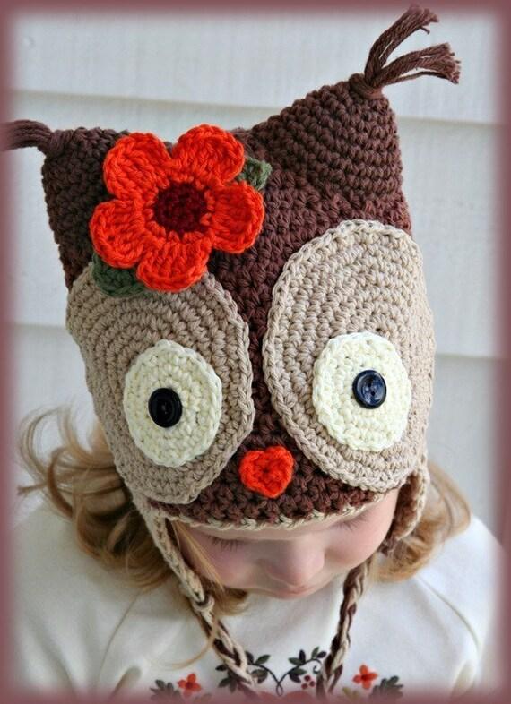 Amigurumi Animal KAWAII OWL crochet Silly hat Custom made ANY