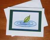 Ripples Art Print Card 4.25 x 5.5 inch Blank Greeting Card with Envelope, Ripple Art