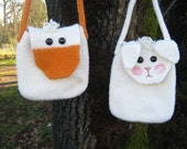 PDF Pattern Felted CrochetLamb and Duck Bags