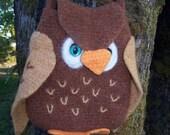 PDF Pattern Owl Bag/Purse to Crochet and Felt