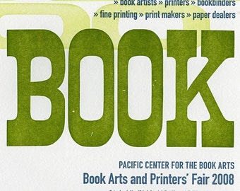 Letterpress Book Arts and Printers Fair Poster 2008