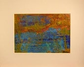Reserved for Donna - Acrylic Abstract  Landscape Painting Spring Marsh I